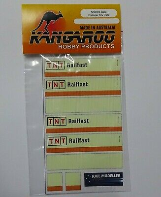 N Scale TNT Railfast Container Kit for 2 containers Kangaroo Brand