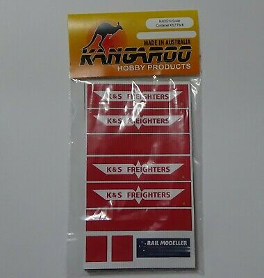 N Scale K&S Freighters Container Kit for 2 containers Kangaroo Brand
