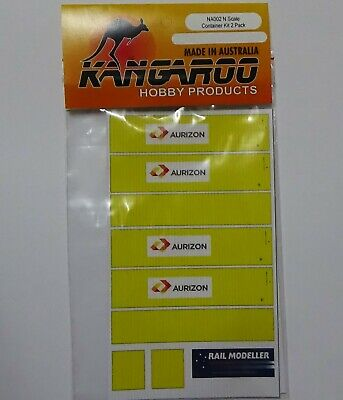 N Scale Aurizon Container Kit for 2 containers Kangaroo Brand