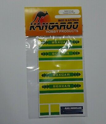 N Scale Boxcar Container Kit for 2 containers Kangaroo Brand