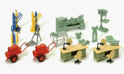 Preiser HO Scale Model Scenery Detail Set Cable Rolls//Drums And Cases 4-Pack