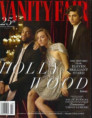 SAOIRSE RONAN TIMOTHEE CHALAMET Vanity Fair Magazine 2019 HOLLYWOOD