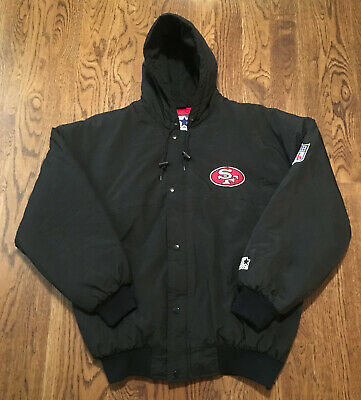 b22bc57ee14 SF SAN FRANCISCO 49ers Vintage STARTER Jacket NFL - Nylon Satin Gold ...