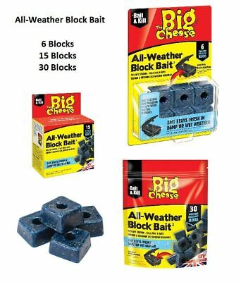 All Weather Bait Blocks Mouse Rodent Mice Rat Killer Poison Quick & Safe