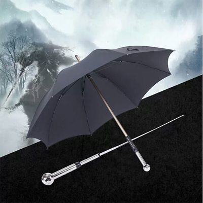 Fashion Umbrella Long Handle Man Automatic Windproof Sword Warrior Self-defense