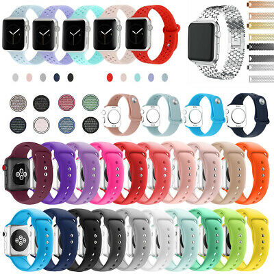 Silicone Bracelet iWatch Band Nylon Woven Strap Wrist For Apple Watch 38/42mm