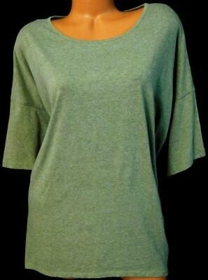 18734e11421d9 Lula roe olive green plus size scoop neck short sleeve high low spandex 2XL