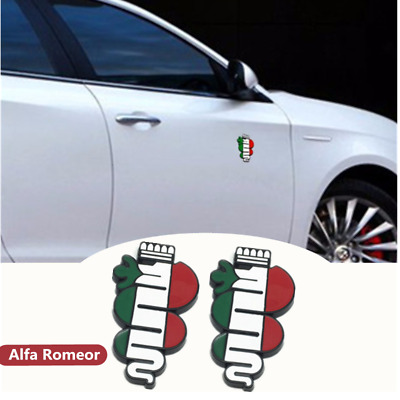 Car Rear Side Fender Stickers Emblems Badge Logo Accessories For Alfa Romeo