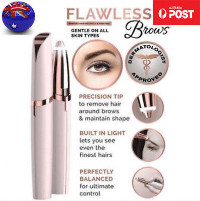 NEW Electric Flawless Instant Remover For Brows Eyebrow Hair Removal Pen Razor