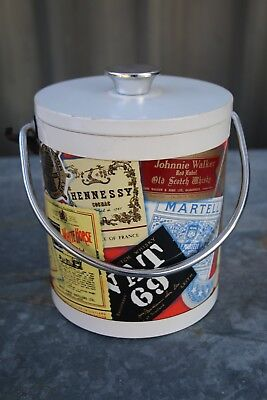 Vintage Ice Bucket WHISKEY Alcohol Label Themed