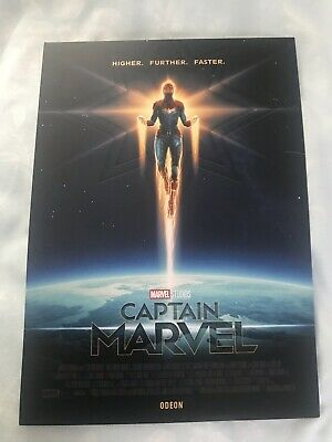 Captain Marvel A4 Odeon Poster - Limited Edition - Brand New - Free P&P