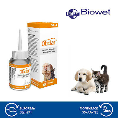 Oticlar Ear Cleanser for Dogs & Cats Ear Wax Mites Cleaner Liquid Drops 50ml
