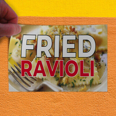 Choose Your Size Deep Fried Ravioli DECAL Food Truck Vinyl Sign Concession