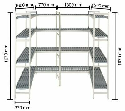 Shelf System for Cold Rooms, 1300+1600+1300+770mm