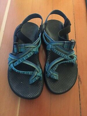 770127147c85 CHACO SANDALS WOMENS Size 7 Green And Blue Straps -  18.00