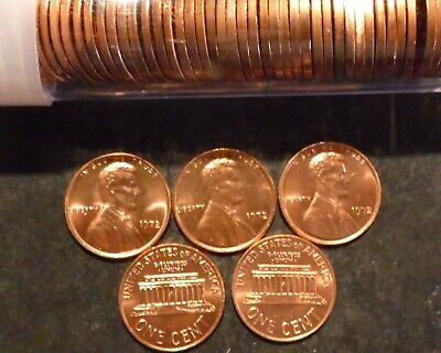 1972-P Lincoln Cent Penny Choice/Gem BU Roll Uncirculated