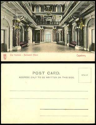 South Africa Old Hand Tinted Postcard The Vestibule, Parliament House, Cape Town