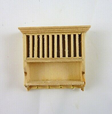 Dollhouse Miniature Unfinished Half Scale Euro Kitchen Plate Rack, J1123S