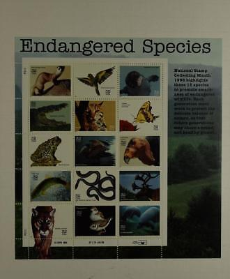 Us Scott 3105 Pane Of 15 Endangered Species Stamps 32 Cent Face Mnh