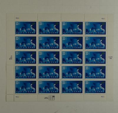 Us Scott 3354 Pane Of 20 Nato 50 Years Stamps 33 Cent  Face Mnh