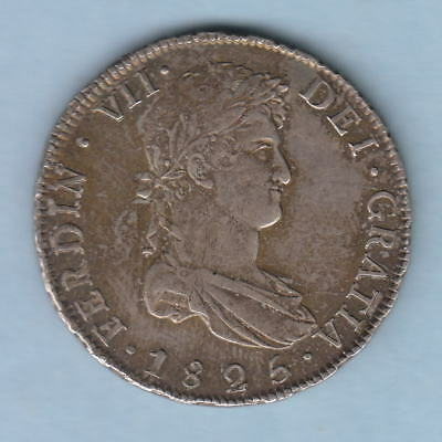 Bolivia. 1825-JL 8 Reales.. Pototsi Mint..  Much Lustre - aEF/EF