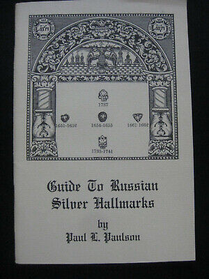 Guide To RUSSIAN SILVER Hallmarks 1st illus.Moscow St.Petersburg Silver Smiths