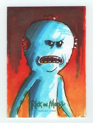 Rick and Morty season 1 Sketch Card by Danny Kidwell - from Cryptozoic