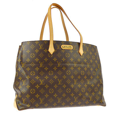 de376a0935f9 Authentic Louis Vuitton Wilshire Mm Hand Tote Bag Monogram Canvas M45644  Ak30918
