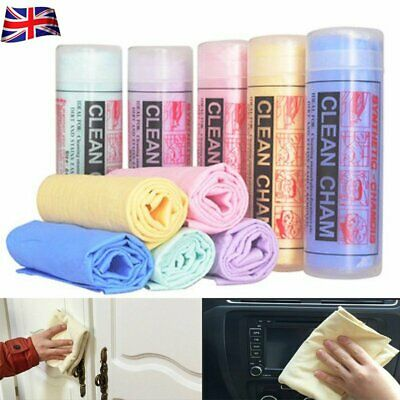 Car Cleaning Natural Chamois Leather Cloth Washing Suede Absorbent Drying Towel