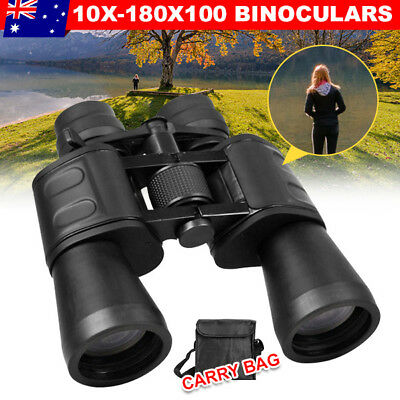 SAKURA 50mm Tube 10x-180x100 Zoom HD Night Vision Waterproof Travel Binoculars