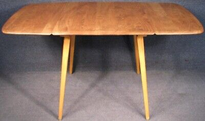 Ercol 1960s Elm And Beech Windsor Drop Leaf Kitchen Dining Table