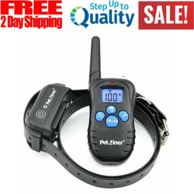 Electric Dog Collar Shock Waterproof Rechargeable Electric E-Collar 300yd Range