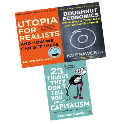 Utopia for Realists Doughnut Economics 23 Things They Don't Tell 3 Books Set New