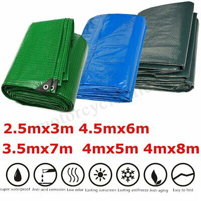 Waterproof Tarpaulin Ground Sheet Camping Lightweigh Tarp Cover Vehicle Garden