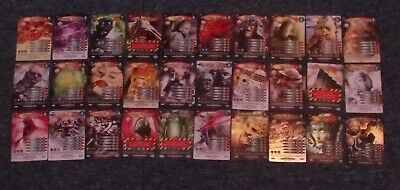 Doctor Who Battles in Time 30 different ULTIMATE MONSTERS inc. 4 Rare Cards Set