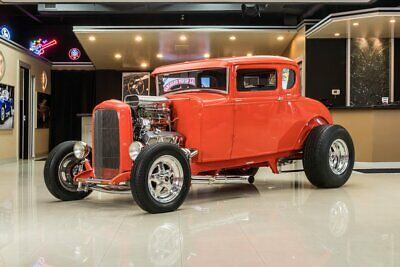 1931 Ford Model A Coupe Street Rod 5-Window Coupe Street Rod! GM 383ci Crate V8, TH350 Auto, PS, Disc, Steel Body!