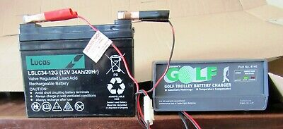 New Golf  Trolley Battery / New Charger
