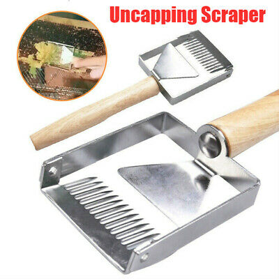 1PC Bee Hive Uncapping Honey Stainless Steel Fork Scraper Shovel Beekeeping Tool