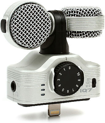 New Zoom iQ7 Rotating Mid Side Stereo Capsule for iPhone/iPad/iPods Auth Dealer