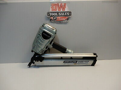 Hitachi Framing 3 1/2″ Stick Nailer 30-35 Degree Paper Tape Collated Clip Hea...