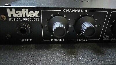 Hafler Pro Musical Products Multi-Tube Preamp Model T2 Tube Rackmount Power Used