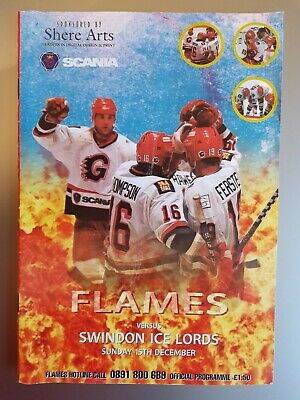 1996 Guildford Flames v Swindon Ice Lords PROGRAMME free UK p&p