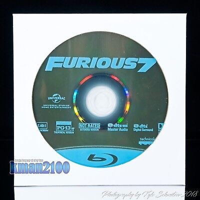 Furious 7 (Blu-ray, 2015) BLU-RAY DISC ONLY...CASE & ARTWORK NOT INCLUDED