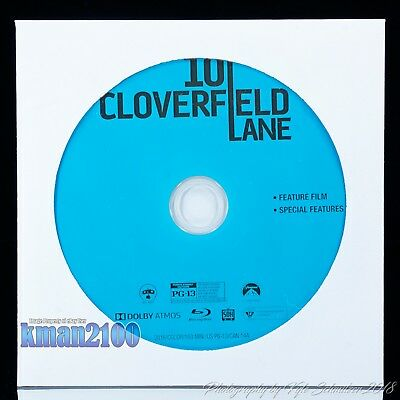 10 Cloverfield Lane (Blu-ray, 2016) BLU-RAY DISC ONLY...NO CASE OR ARTWORK