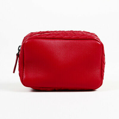 d5420a5004c9f BOTTEGA VENETA CHINA Red Intrecciato Nappa Key Case Card Holder ...