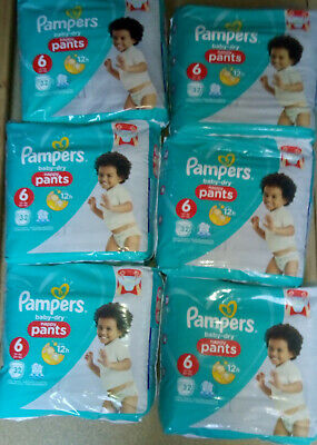 192 Couches Culottes Pampers Baby Dry Pants Taille 6 - 15+ Kg