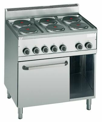 Electric Stove with 6 round Hot Plates, 900x600x900 MM