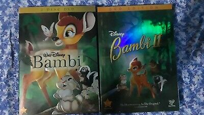 Bambi and Bambi II DVD 1 & 2 Disney Bundle Set Brand New Sealed! Free Shipping