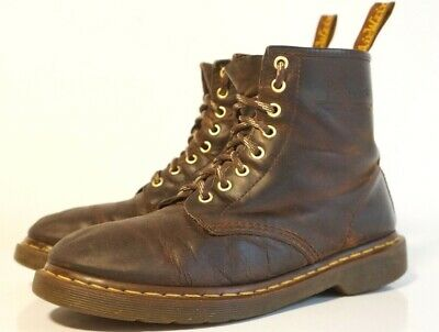 7db956ebd44 DOC DR. MARTENS Air Wair The Original Lace up Boots Oiled Brown Leather  Mens 9-M
