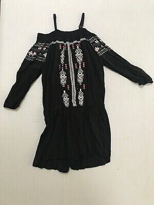 7b945c36756f Epic Threads Girls Off Shoulder Romper Jumpsuit Shorts Black NEW size M 10